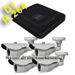 Kit 4 supraveghere video 700 linii exterior