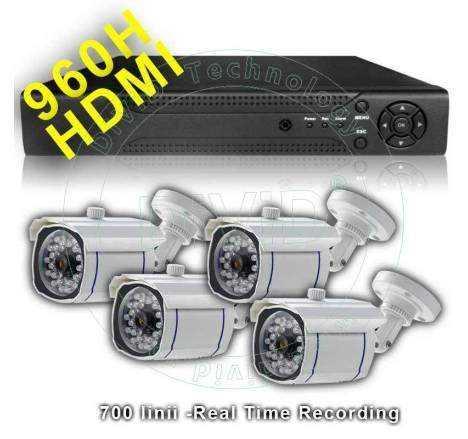 Kit supraveghere video exterior H960 -25m