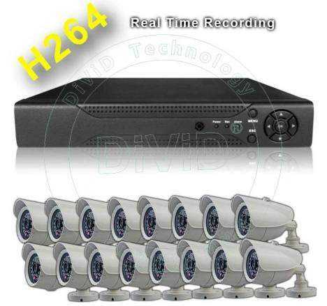 Sistem supraveghere 16 camere video exterior