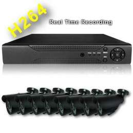 Sistem supraveghere video exterior 8 canale