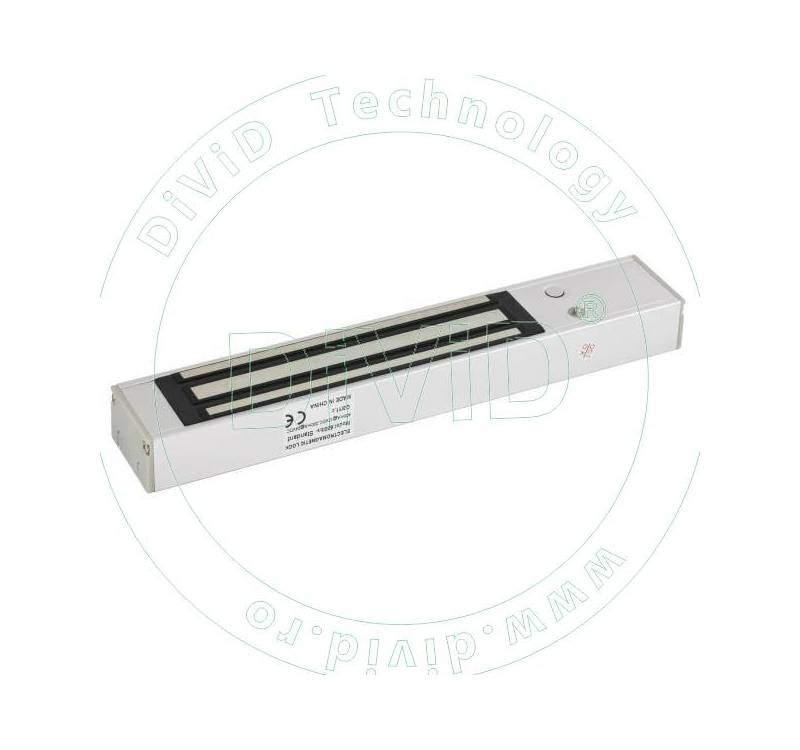 Electromagnet aplicabil de 280kgf, cu maner pentru usi cu deschidere in interior si cu led de stare YM-280T(LED)H