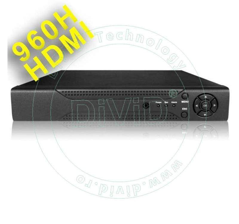 DVR 960H 4 canale video 4 audio