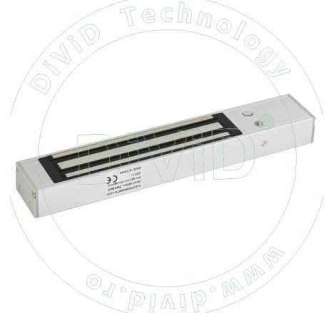 Electromagnet aplicat, cu maner 600mm, pentru usi cu deschidere in interior YM-280T(LED)H-60
