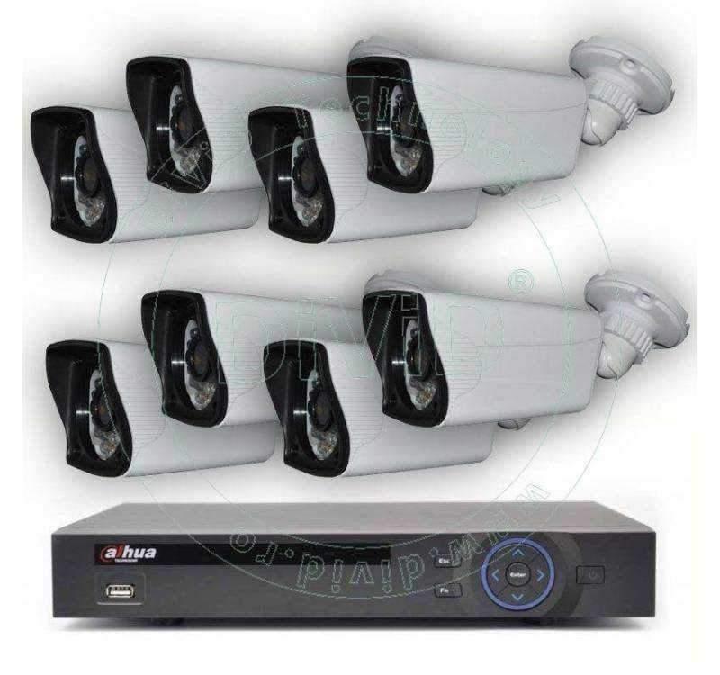 Kit supraveghere video 8 camere exterior