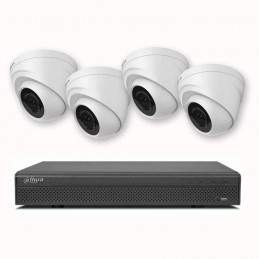 Sistem supraveghere video interior 4 camere dome 1Megapixel