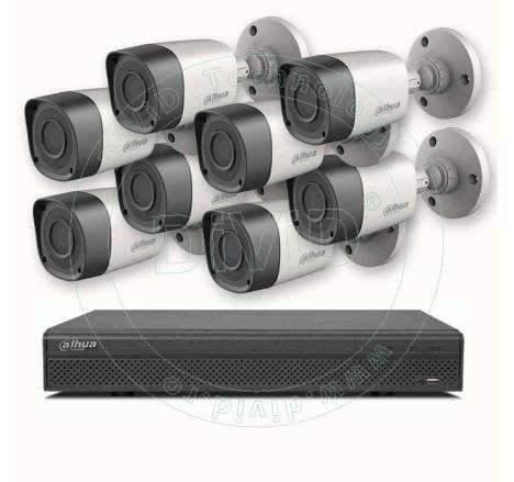 Sisteme supraveghere video exterior 8 camere 1Megapixel