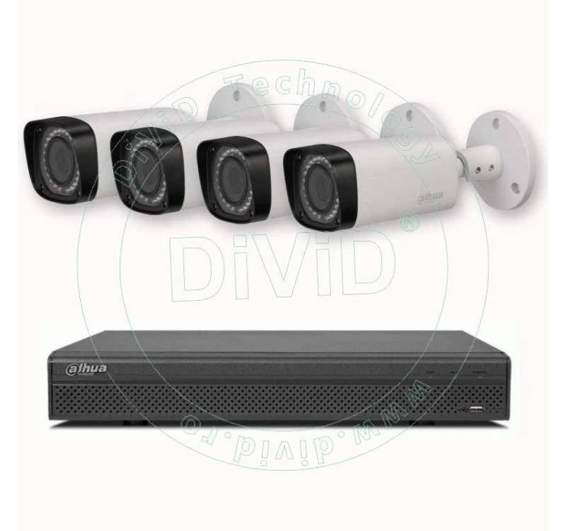 Sistem supraveghere video 4 camere varifocal HD 2 Megapixeli