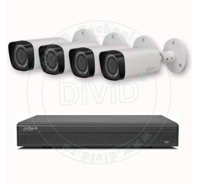 Kit supraveghere video exterior 4 camere 1 Megapixel