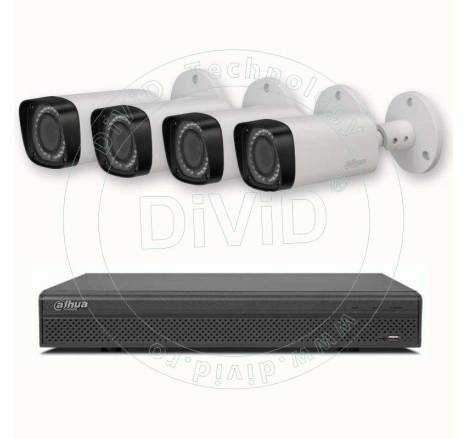 4 Megapixeli sistem supraveghere video 4 camere