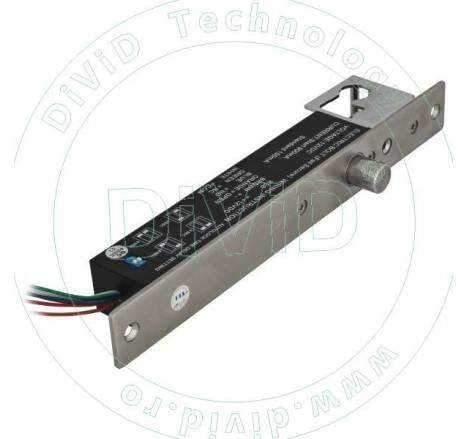 Bolt electric de inalta siguranta cu actiune magnetica si cilindru cu cheie YB-600