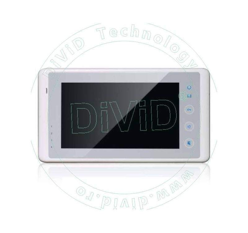 Monitor color videointerfon DT27-TD7-W