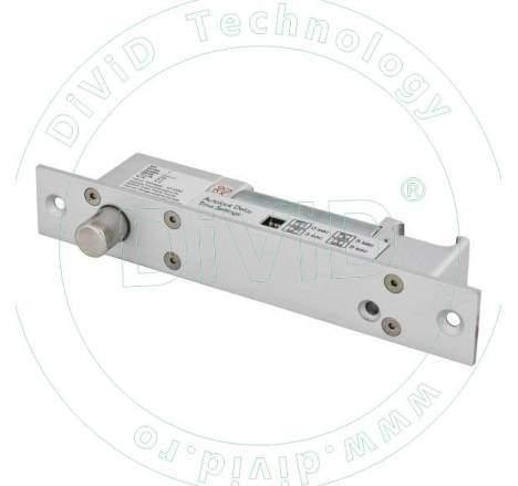Bolt electric cu actiune magnetica, temporizare si cilindru cu cheie YB-610