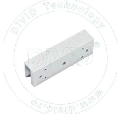 Suport in forma de U pentru montarea contraplacii electromagnetilor de 180kgf pe usi de sticla ABK-180UL