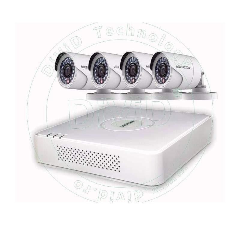 Kit supraveghere video 4 camere exterior Turbo HD
