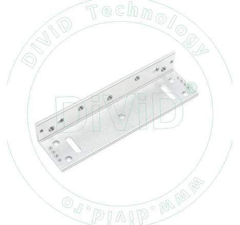 Suport in forma de L pentru montarea electromagnetilor de 500kgf la usi cu tocul ingust ABK-500L