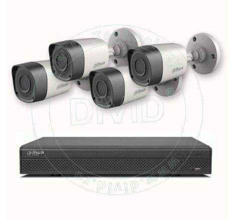 Sistem supraveghere 4 camere video de exterior 720P