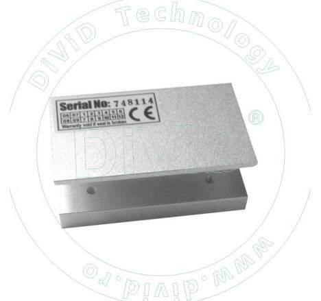 Suport in forma de U pentru montarea electromagnetilor de 60kgf la usi de sticla ABK-60UL