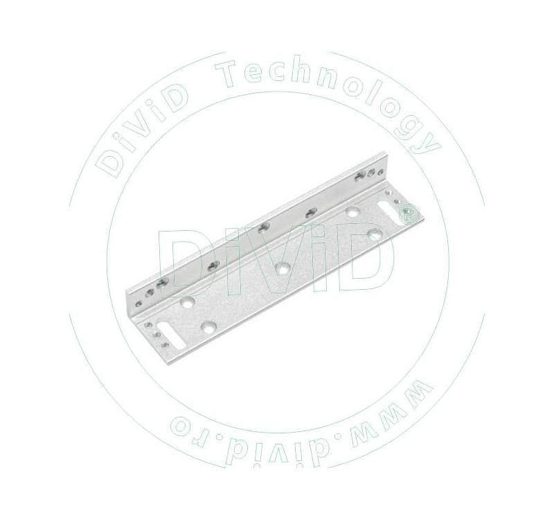 Suport in forma de L pentru montarea electromagnetilor YM-180-S la usi cu tocul ingust ABK-180L-S