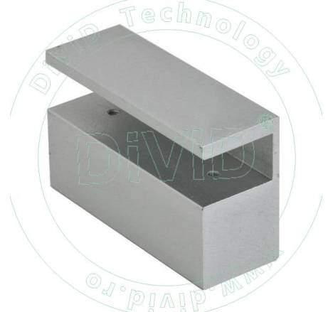 Suport din aluminiu pentru montarea bolturilor electrice la usi de sticla ABK-600AL
