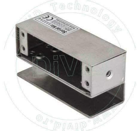 Suport din inox pentru montarea bolturilor electrice la usi de sticla ABK-600