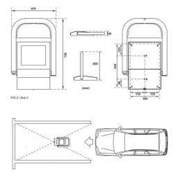 Blocator parcare dimensiuni