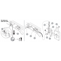 Kit pentru deblocare usa garaj din exterior SPA2 Nice Automatizari - 3