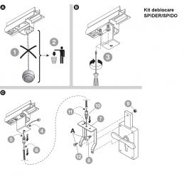 Kit pentru deblocare usa garaj din exterior SPA2 Nice Automatizari - 2
