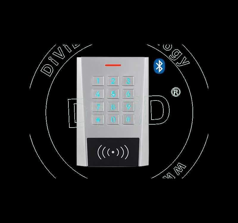Cititor Bluetooth cu tastatura si cartela PARADOX - 1