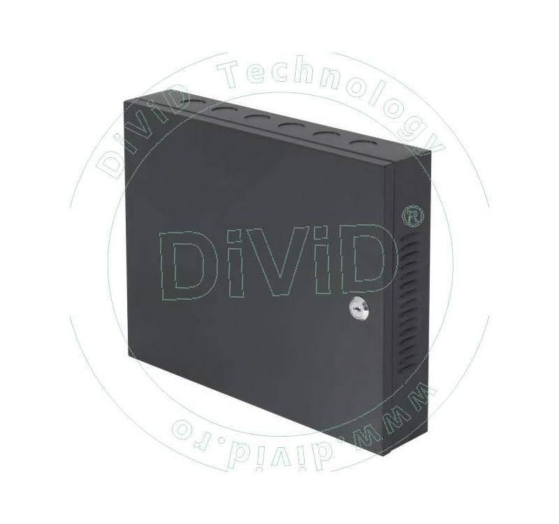 Centrala de control acces cu cabinet metalic, pentru o usa CCA3-1-2CAB+