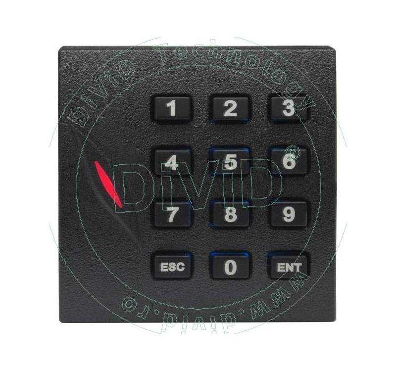 Cititor de proximitate RFID (125KHz) cu tastatura pentru centrale de control acces