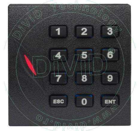 Cititor de proximitate RFID (125KHz) cu tastatura pentru centrale de control acces KR-102E
