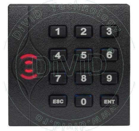 Cititor de proximitate RFID (125KHz) cu tastatura pentru centrale de control acces KR-202E