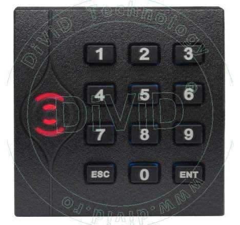 Cititor de proximitate RFID (MIFARE 13.56MHz) cu tastatura pentru centrale de control acces KR-202M
