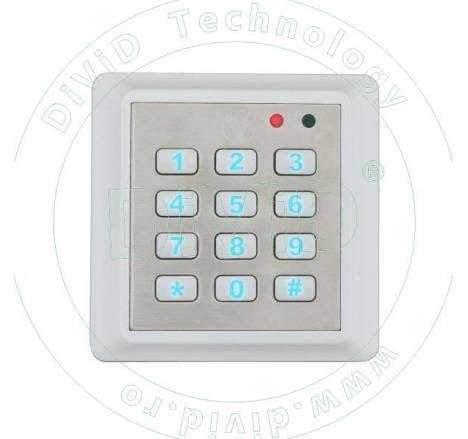 Cititor de proximitate RFID(125KHz) pentru exterior, stand-alone, cu tastatura YK-668