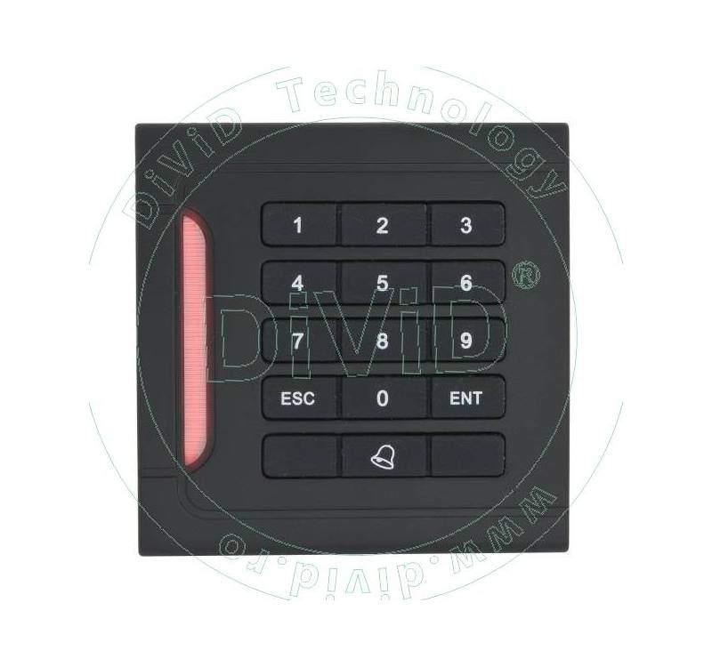 Cititor de proximitate RFID (125KHz) pentru interior, stand-alone, cu tastatura YK-05A