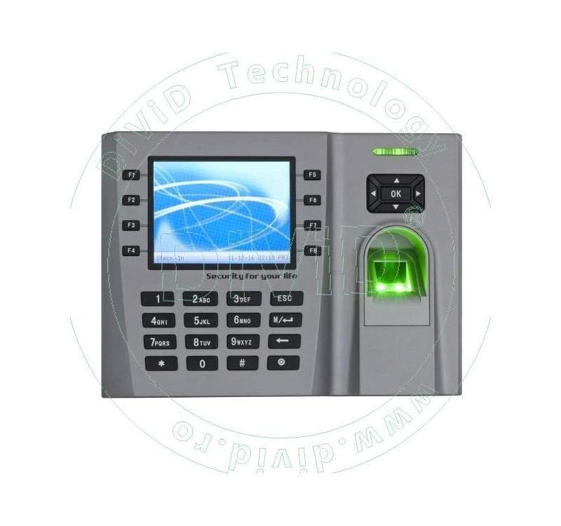 Sistem de pontaj cu amprenta si/sau cod, ecran TFT