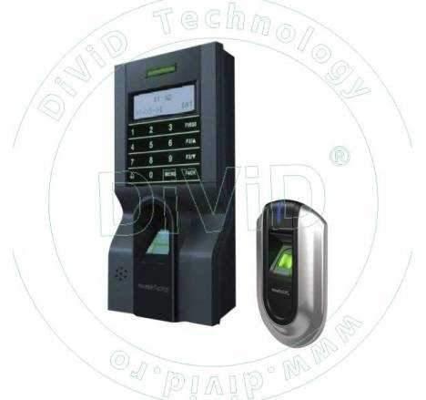 KIT de control acces si pontaj cu amprenta (controler plus cititor suplimentar) KIT-FPAP-8