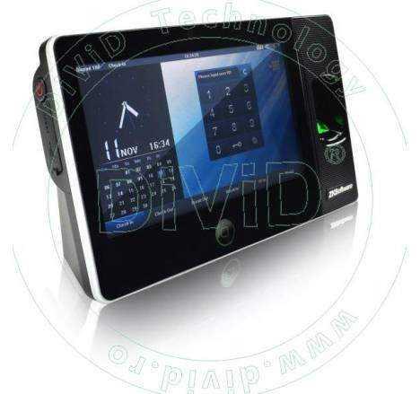 Sistem de pontaj cu amprenta, comunicatie WIFI si camera foto incorporata BIOPAD100