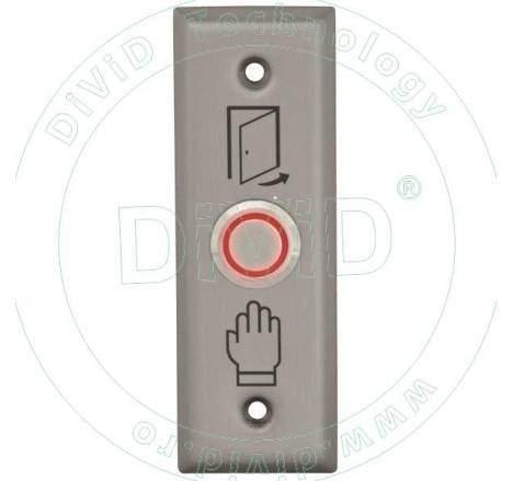 Buton de iesire din inox incastrabil cu LED ABK-804C