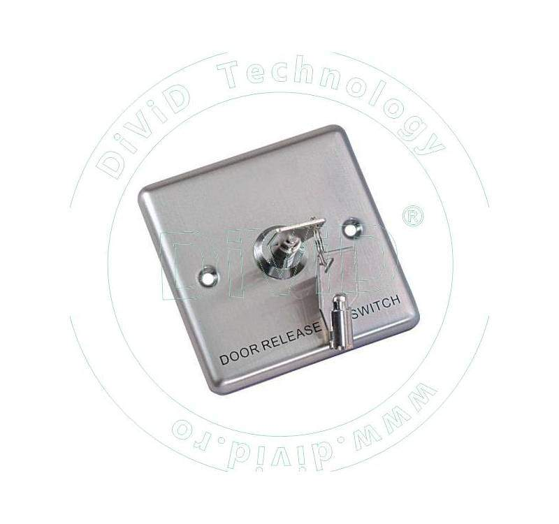 Buton incastrabil din inox, cu cheie ABK-803