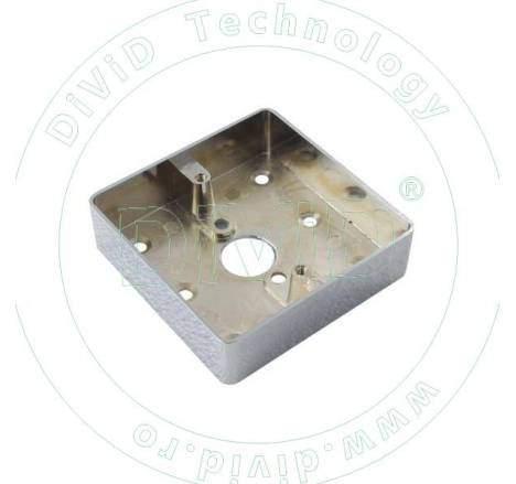 Carcasa pentru montarea aplicata a butoanelor din metal ABK-801B-M