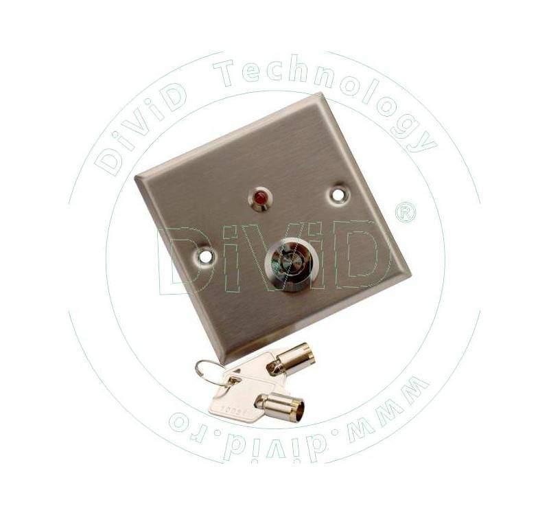 Buton incastrabil din inox, cu cheie ABK-803L