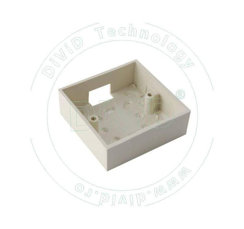Carcasa pentru montarea aplicata a butoanelor din plastic ABK-802-P