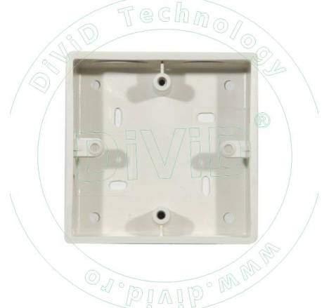 Doza pentru montarea incastrata a butoanelor din plastic ABK-802+