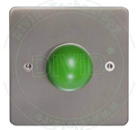 Buton de iesire aplicat din inox PBK-818B
