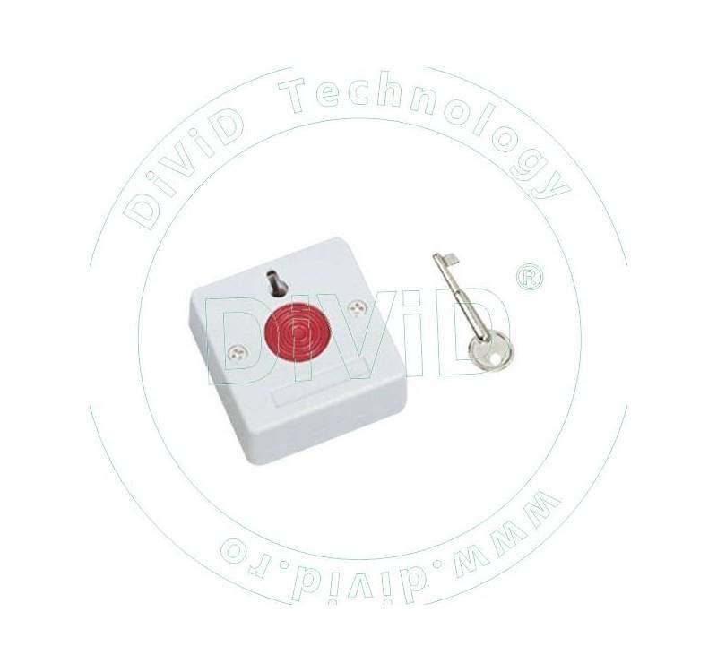 Buton de panica aplicabil, din plastic, cu cheie BT-27