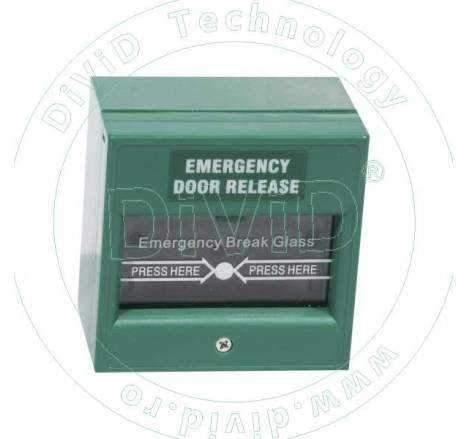 Buton aplicat din plastic, pentru iesire de urgenta ABK-900A