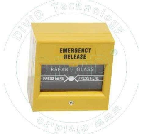 Buton aplicat din plastic, pentru iesire de urgenta ABK-900B