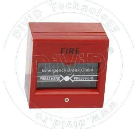 Buton aplicat din plastic, pentru iesire de urgenta ABK-900C