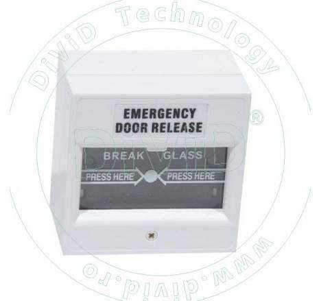 Buton aplicat din plastic, pentru iesire de urgenta ABK-900D